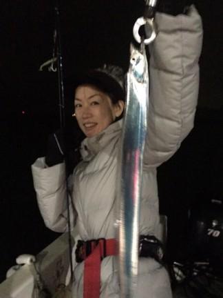 名古屋港で太刀魚